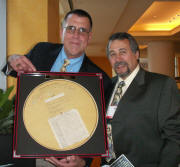 2006/2008 Recipient, Dave Yates (R)  with Dan Holohan (L) at NAOSHM.