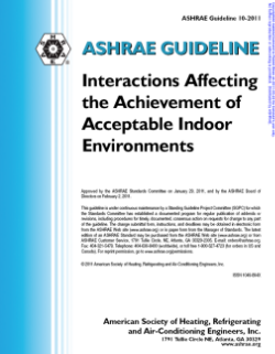 ASHRAE Guideline 10-2011, Interactions Affecting the Achievement of Acceptable Indoor Environments